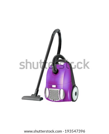 Vacuum cleaner isolated - stock photo