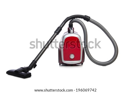 Vacuum cleaner isolated on the white background - stock photo