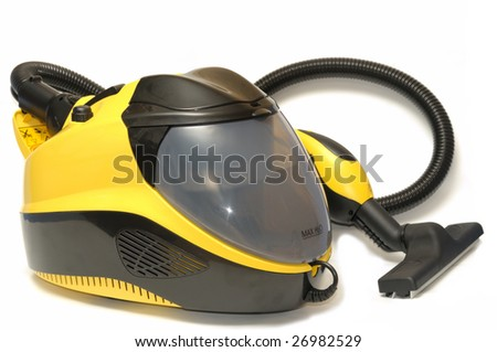 vacuum cleaner,  isolated on  white background - stock photo