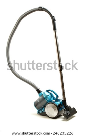 vacuum cleaner on white background - stock photo