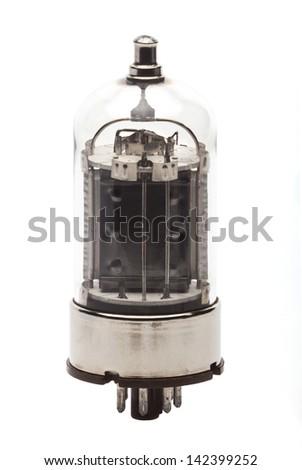 Vacuum Tube 7403 on white background - stock photo