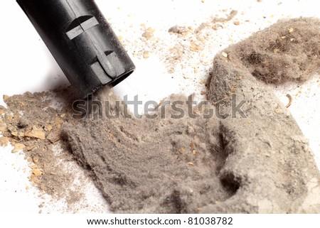 Vacuuming dust - stock photo