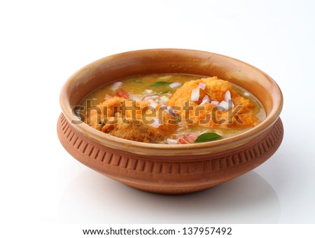 Vada Sambar - stock photo