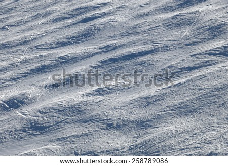 VAIL, CO - FEBRUARY 9: A ski slope on Vail Mountain in Vail, Colorado on February 9, 2015. Vail Mountain is located in the White River National Forest and is home of the Vail Ski Resort. - stock photo