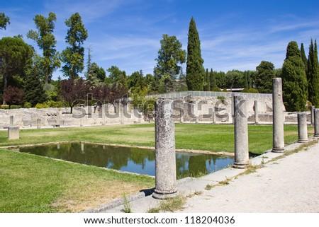 Vaison-la-Romaine - Roman Ruins - stock photo