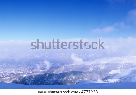 Valcan Mountains in winter, Southern Carpathians, Romania