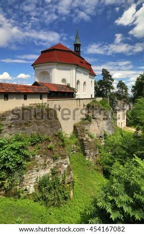 Valdstejn castle in Bohemia - stock photo
