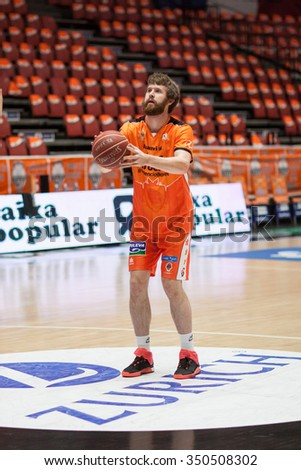 VALENCIA, SPAIN - DECEMBER 12th: Shurna during Spanish League between Valencia Basket Club and Montakit Fuenlabrada at Fonteta Stadium on December 12, 2015 in Valencia, Spain - stock photo