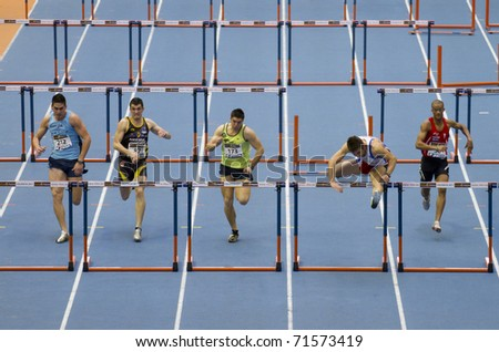 Valencia Spain February 20 Indoor Track And Field Spanish National Championship Runners