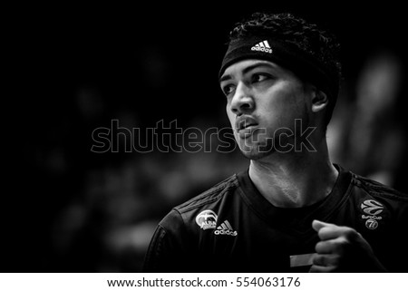 VALENCIA, SPAIN - JANUARY 11: Peyton Siva during Eurocup match between Valencia Basket and Alba Berlin at Fonteta Stadium on January 11, 2017 in Valencia, Spain