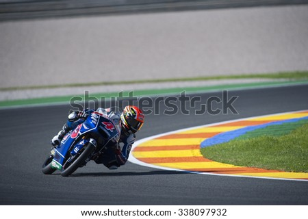 VALENCIA, SPAIN - NOVEMBER 6: Fabio Di Giannantonio during Valencia MotoGP 2015 at Ricardo Tormo Circuit on November 6, 2015 in Valencia, Spain