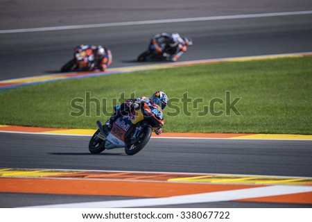 VALENCIA, SPAIN - NOVEMBER 8: Miguel Oliveira during Valencia MotoGP 2015 at Ricardo Tormo Circuit on November 8, 2015 in Valencia, Spain
