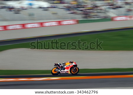 VALENCIA - SPAIN, NOVEMBER 8: Spanish Honda rider Dani Pedrosa at 2015 Motul MotoGP of Valencia on November 8, 2015