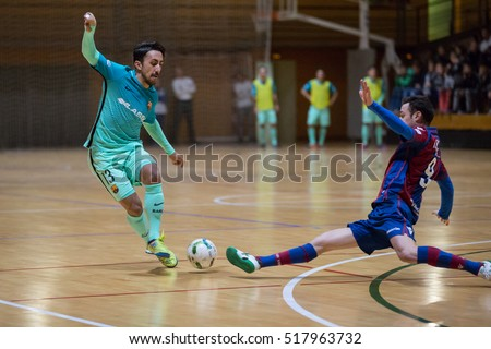 VALENCIA, SPAIN - NOVEMBER 8th: Joselito with ball during Spanish King Cup match between Levante UD FS and FC Barcelona at Cabanyal Stadium on November 8, 2016 in Valencia, Spain