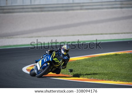 VALENCIA, SPAIN - NOVEMBER 6: Xavi Vierge during Valencia MotoGP 2015 at Ricardo Tormo Circuit on November 6, 2015 in Valencia, Spain