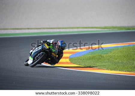 VALENCIA, SPAIN - NOVEMBER 6: Zulfahmi Khairuddin during Valencia MotoGP 2015 at Ricardo Tormo Circuit on November 6, 2015 in Valencia, Spain