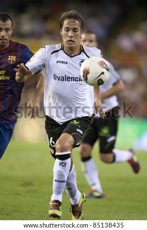 VALENCIA, SPAIN - SEPTEMBER 21: Canales in the Spanish Soccer League between Valencia C.F. vs F.C. Barcelona - Mestalla Luis Casanova Stadium - Spain on September 21, 2011