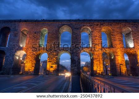 Valens Aqueduct (Bozdogan Kemeri) - stock photo