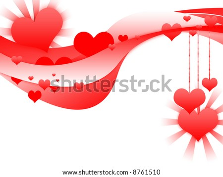 valentine background full of heart and love.Copy space for message