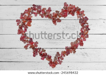 valentine background with hearts  - stock photo