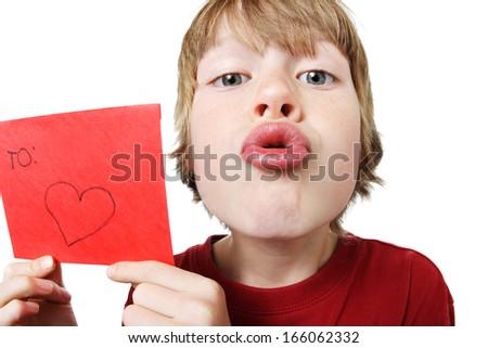 Valentine boy - stock photo