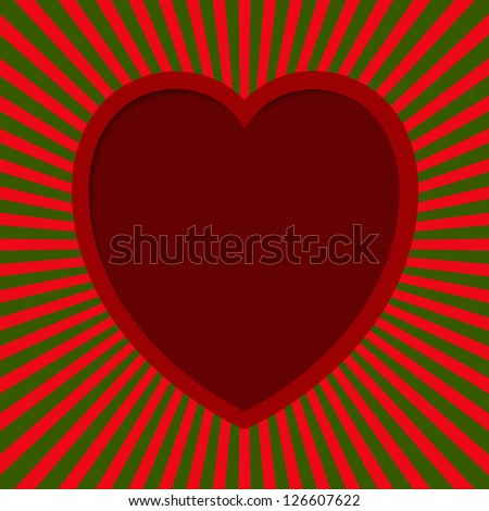 Valentine card - Heart With Beams.