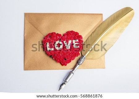 write a love letter shaped in a heart