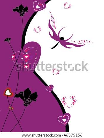 valentine day background - stock photo
