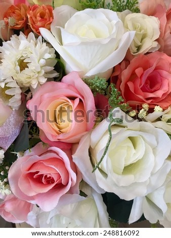 Valentine day. Bouquet of roses background.