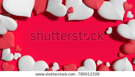 Valentine Day Heart Wallpaper Background Design 3D Illustration