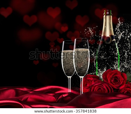 valentine day champagne roses stock photo 357841838 - shutterstock, Ideas