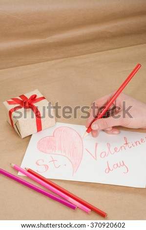 Valentine handmade drawn