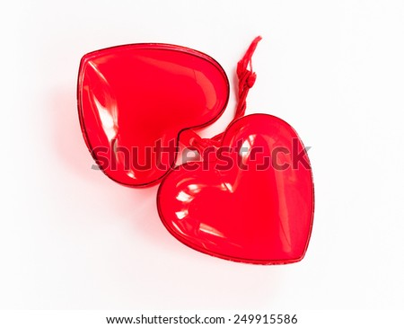 Valentine heart. On a white background. Isolated.