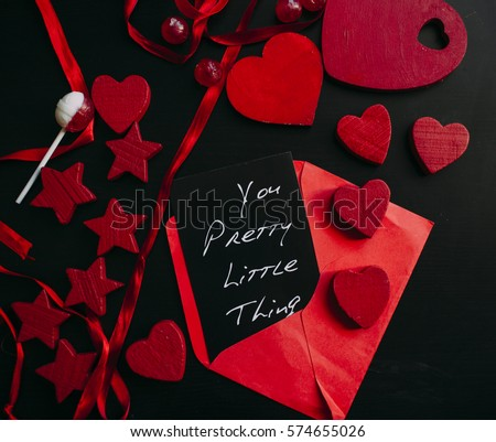 Valentine Hearts Background. Valentines dark Abstract Wallpaper. Backdrop. St. Valentine's Day Card Design