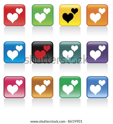 valentine hearts button pack  - check my gallery for VECTOR file or other related files