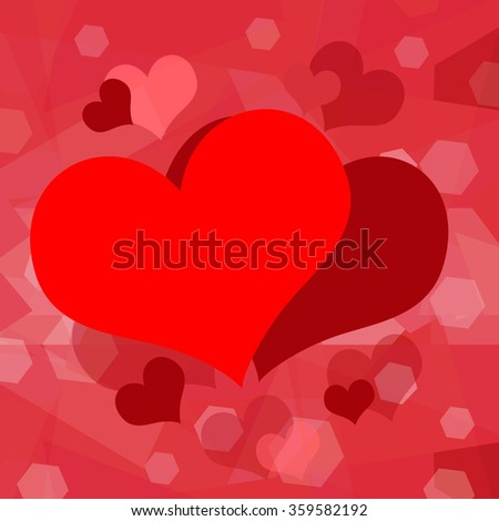 Valentine hearts love background - stock photo