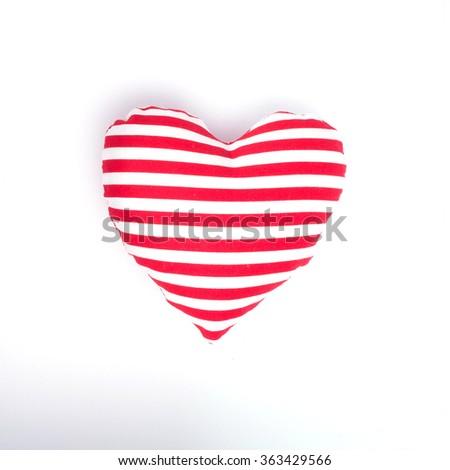 Valentine hearts on white background - stock photo