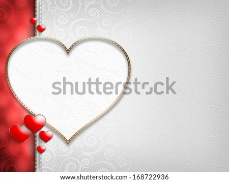 Valentine's Day - background of greeting card