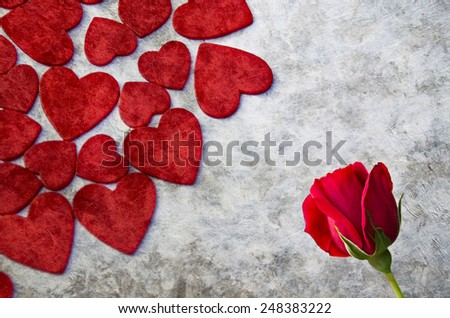Valentine's day background with great colors - stock photo