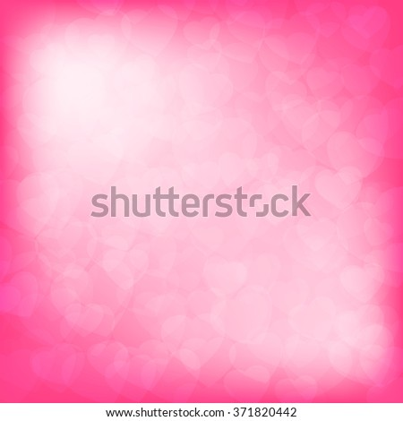Valentine's day background with hearts and copy space  - stock photo