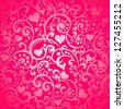 Valentine's day background with hearts.  illustration - stock photo