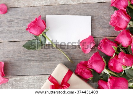 valentines day beautiful roses gift stock photo 374431408, Ideas