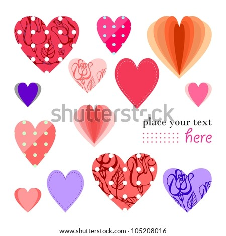 Valentine's day greeting card (raster version)