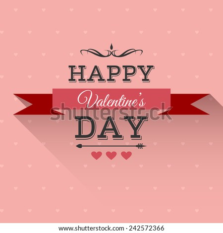 Valentine's Day greeting card with lettering. Raster version - stock photo