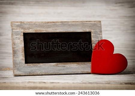 Valentine's Day greeting cards. Valentine's Day decor. - stock photo