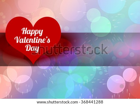 Valentines Day Postcard Or Wallpaper With Heart Text Blur Background And Are For Posting