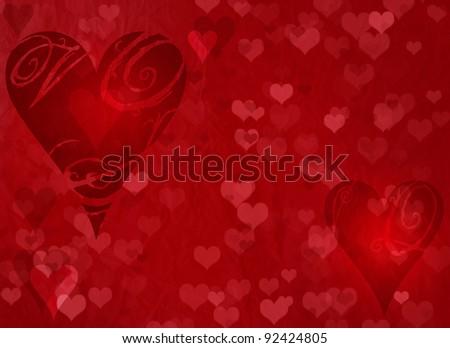 Valentine's day red background - stock photo