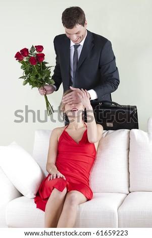 Valentine's Day surprise - stock photo