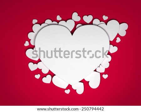 Valentine's hearts background - stock photo