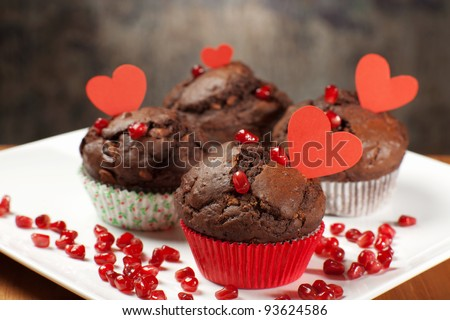 valentine's sweet treats - stock photo